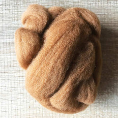 Needle felted wool felting gold brown wool Roving for felting supplies short fabric easy felt