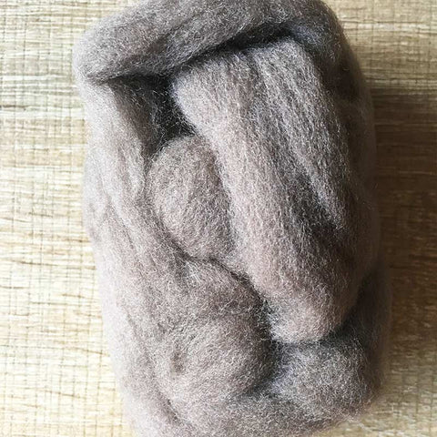 Needle felted wool felting gray tan wool Roving for felting supplies short fabric easy felt