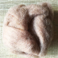 Needle felted wool felting mousse brown wool Roving for felting supplies short fabric easy felt