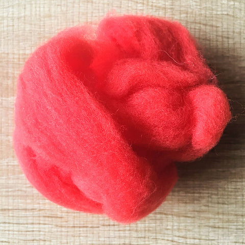 Needle felted wool felting orange red wool Roving for felting supplies short fabric easy felt