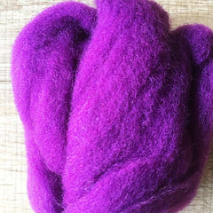 Needle felted wool felting purple wool Roving for felting supplies short fabric easy felt