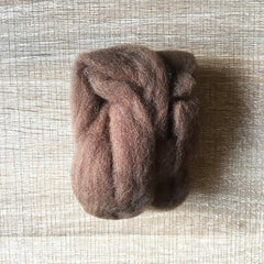 Needle felted wool felting racoon brown wool Roving for felting supplies short fabric easy felt