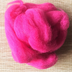 Needle felted wool felting rose red wool Roving for felting supplies short fabric easy felt