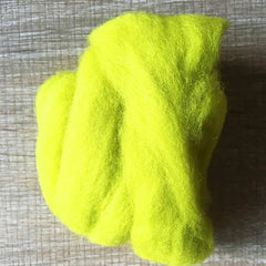 Needle felted wool felting yellow green wool Roving for felting supplies short fabric easy felt