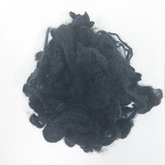 Needle felting supplies 10g Black wool Curly Wool Curly Fiber for Wool Felt for Poodle Bichon and Sheep