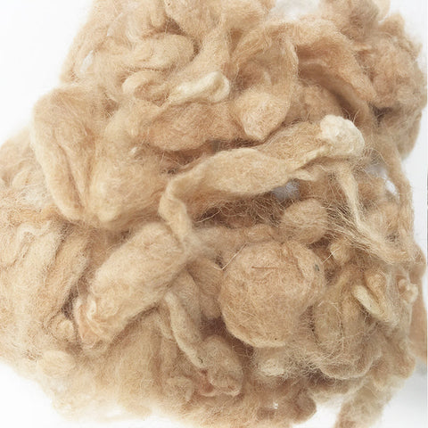 Needle felting supplies 10g Brown wool Curly Wool Curly Fiber for Wool Felt for Poodle Bichon and Sheep