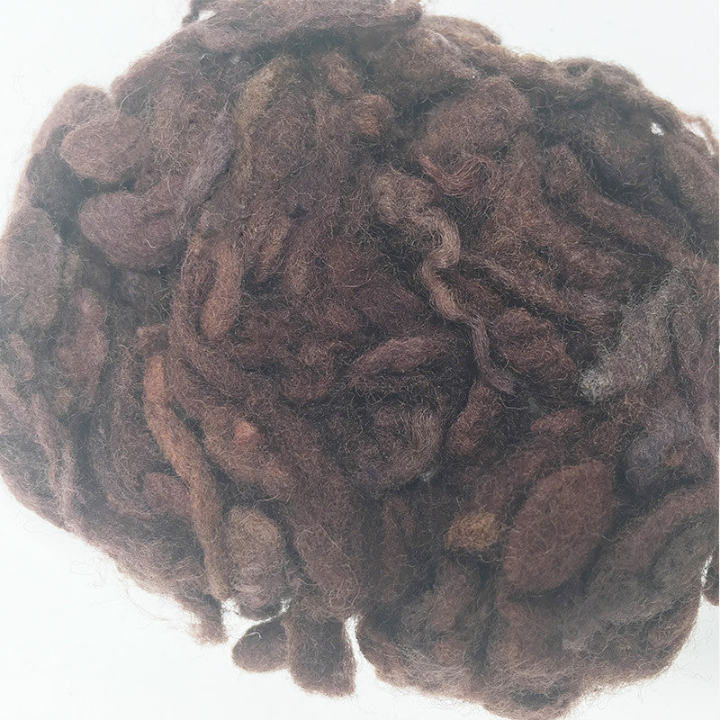 Needle felting supplies 10g Coffee wool Curly Wool Curly Fiber for Wool Felt for Poodle Bichon and Sheep