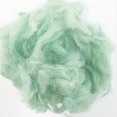 Needle felting supplies 10g Green wool Curly Wool Curly Fiber for Wool Felt for Poodle Bichon and Sheep
