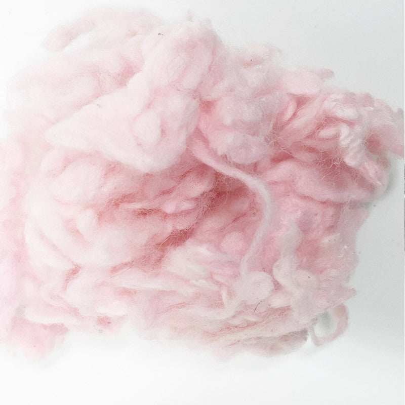 Needle felting supplies 10g Light pink wool Curly Wool Curly Fiber for Wool Felt for Poodle Bichon and Sheep