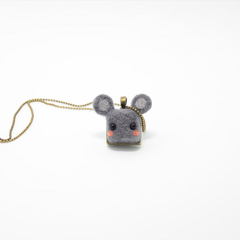 Needle Felted Felting project Animals Necklace Cute Jewelry