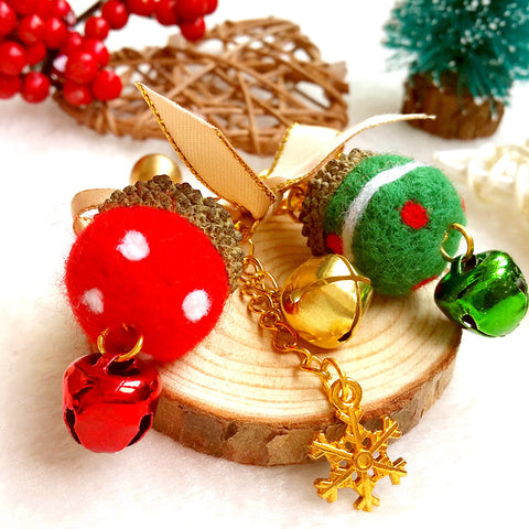Needle felting kit for beginners starters Christmas accessories Brooch Cute balls