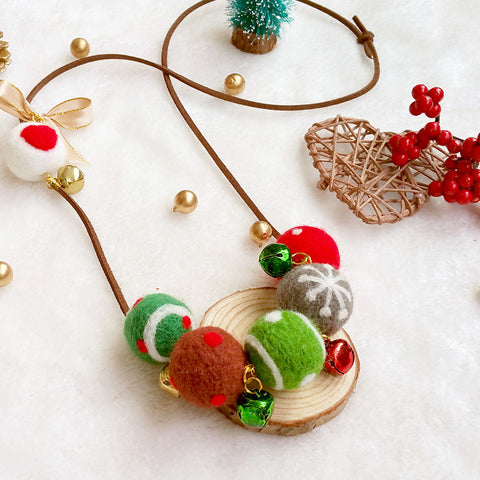 Needle felting kit for beginners starters Christmas accessories Necklace Cute balls