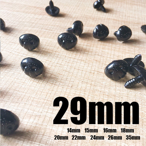 Needle felting supplies animal dog puppy nose 5 pieces  29mm Safety nose Animal nose Amigurumi nose Doll nose Stuffed Toy nose Doll Parts Plastic nose Black