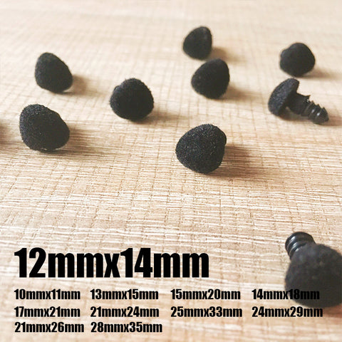 Needle felting supplies animal velour dog puppy nose 10 pieces 12mmx14mm Safety nose Animal nose Amigurumi nose Doll nose Stuffed Toy nose Doll Parts Plastic nose Black