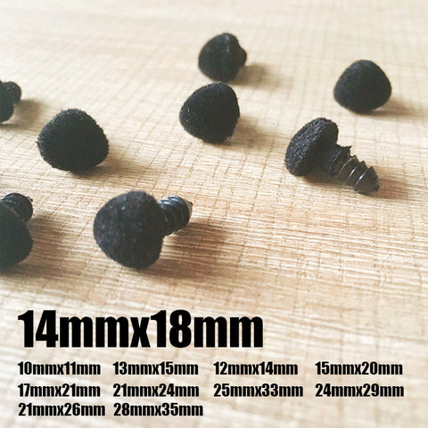 Needle felting supplies animal velour dog puppy nose 10 pieces 14mmx18mm Safety nose Animal nose Amigurumi nose Doll nose Stuffed Toy nose Doll Parts Plastic nose Black