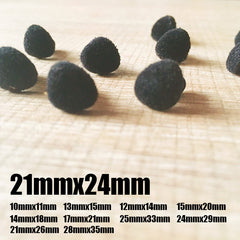Needle felting supplies animal velour dog puppy nose 10 pieces 21mmx24mm Safety nose Animal nose Amigurumi nose Doll nose Stuffed Toy nose Doll Parts Plastic nose Black