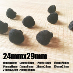 Needle felting supplies animal velour dog puppy nose 10 pieces 21mmx26mm Safety nose Animal nose Amigurumi nose Doll nose Stuffed Toy nose Doll Parts Plastic nose Black