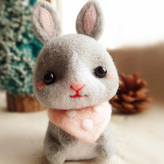 Needle Felted Felting project Animals Bunny Rabbit Cute Craft