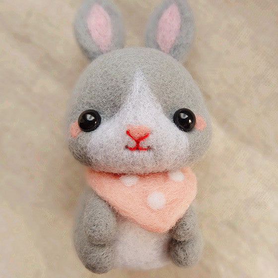 needle felted felting project animals bunny rabbit cute
