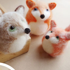 Needle Felt Felted Felting project Wool Animals Foxes Cute Crafts