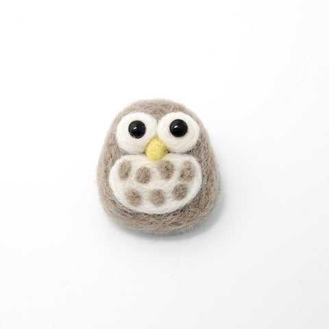 Needle Felting Felted Animals Owl Cute Brooch Jewelry