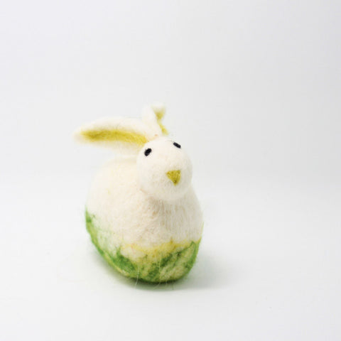 Needle Felted Felting project Animals Bunny White Cute Craft
