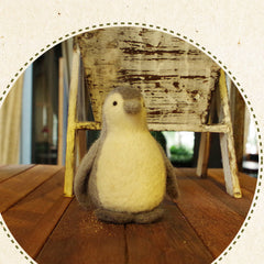 Needle Felt Felted Felting project Wool Animals Gray Penguin Cute Crafts