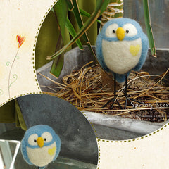 Needle Felt Felted Felting project Wool Animals Owls Cute Crafts