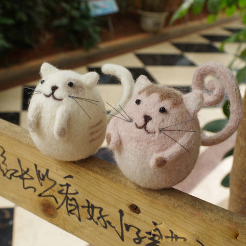 Needle Felt Felted Felting project Wool Animals Cats Couples Cute Crafts