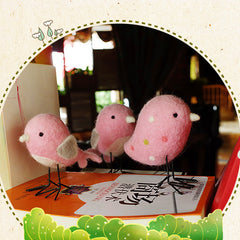 Needle Felted Felting project Animals Bird Pink Cute Craft