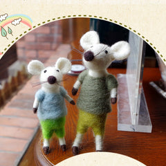 Needle Felt Felted Felting project Wool Animals Mice Couples Cute Crafts