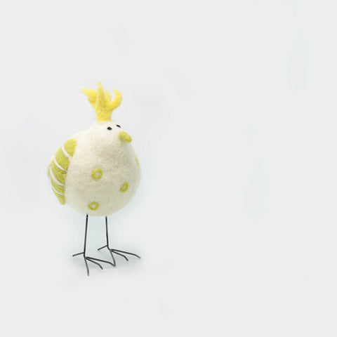 Needle Felted Felting project Animals Bird White Cute Craft