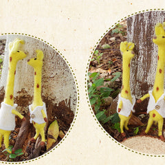 Needle Felt Felted Felting project Wool Animals Yellow Giraffe Cute Crafts