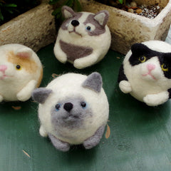 Needle Felt Felted Felting project Wool Animals cats dogs pets Cute Crafts