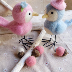 Needle Felted Felting project Animals Birds Couples Cute Craft