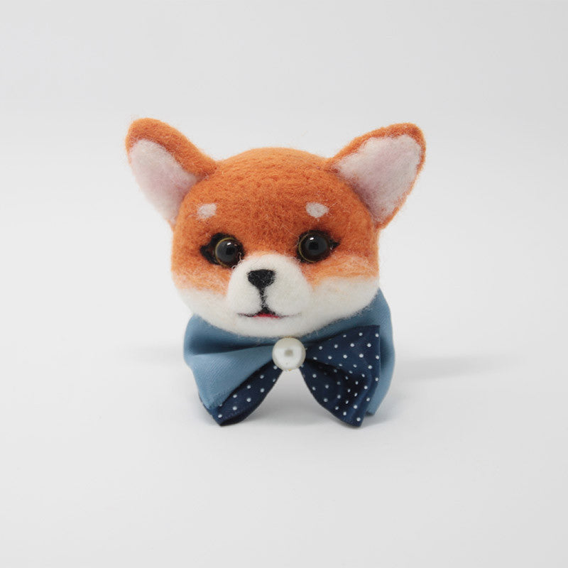 Needle Felted Felting project Animals Orange Fox Cute Brooch