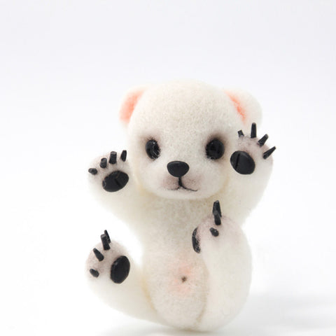 Needle Felted Felting project Animals Polar Bear Cute Craft