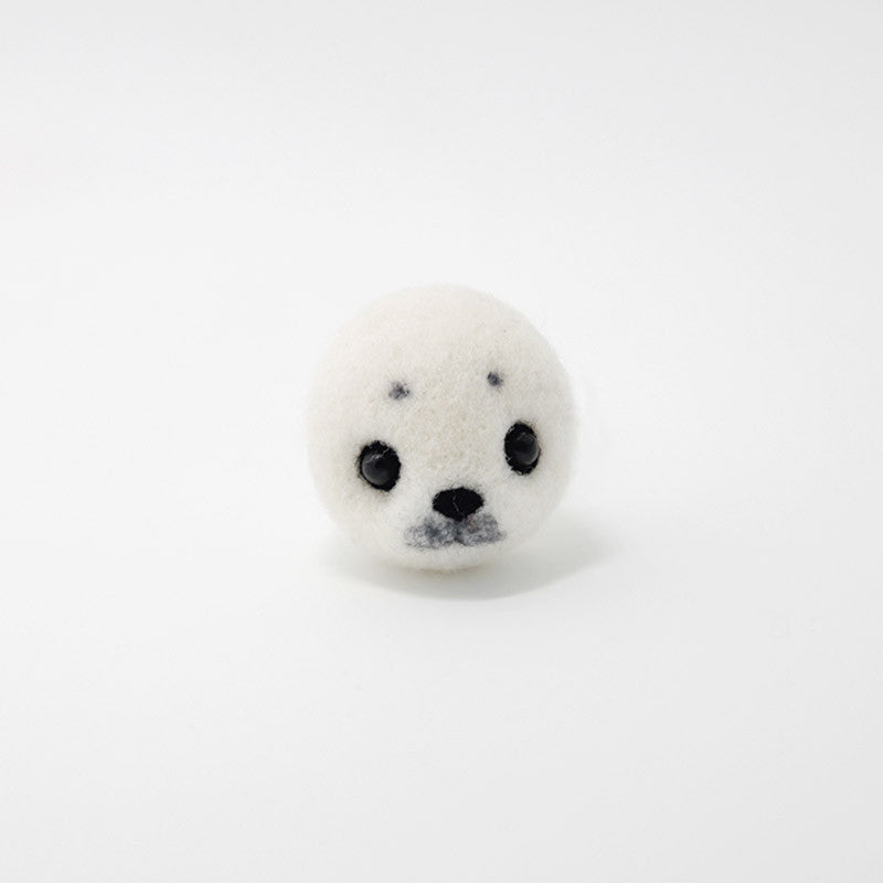 Needle Felted Felting project Animals Seal White Cute Craft