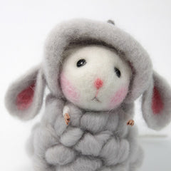 Needle Felted Felting project Animals Cute Kawaii Mouse Sheep
