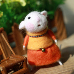 Needle Felted Felting project wool Animals Cute Mother Mouse