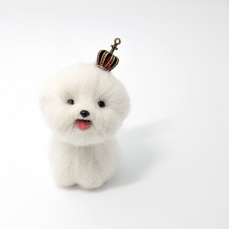 Needle Felted Felting project Animals Dog White Cute Craft