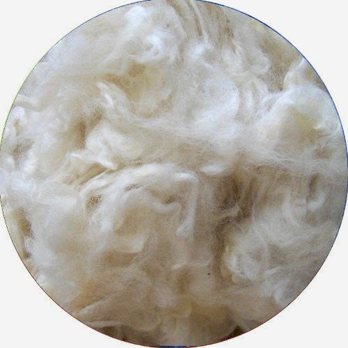 Needle felting 10g natural white wool Curly Wool Curly Fiber for Wool Felt for Poodle Bichon and Sheep