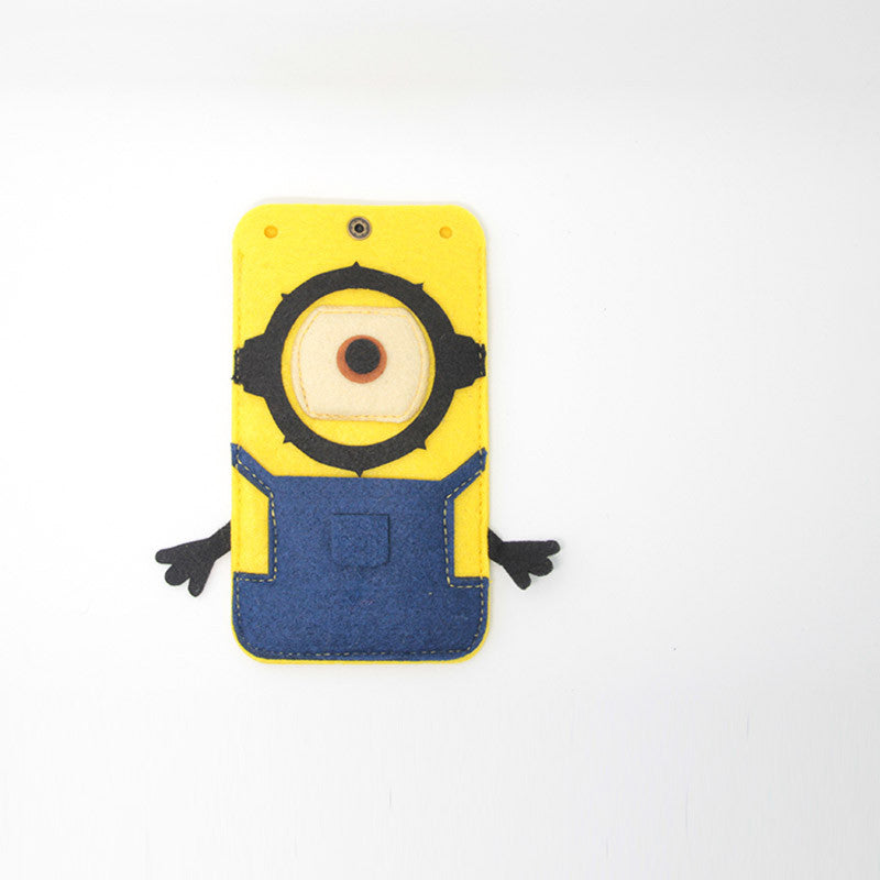 Felt Phone Case Purse Minions Cute Felt Craft