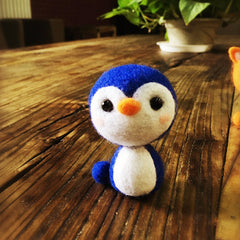 Handmade Needle felted felting kit project Animals fox penguin lamb cute for beginners starters