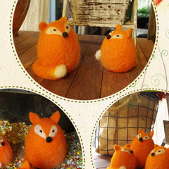 Needle Felted Felting project Animals Foxes orange family Cute Craft
