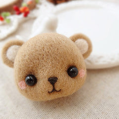 Needle Felted Felting project Animals Brown Bear Cute Craft