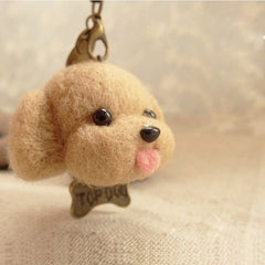 Needle Felted Wool Felting project Animals Brown Dog Cute Craft