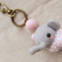 Needle Felted Felting project Wool Animals Cute Elephant Craft