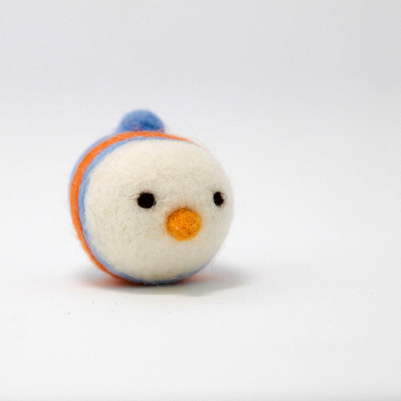 Needle Felted Felting project Animals Blue White Bird Cute Craft