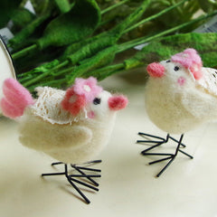 Needle Felted Felting project Animals Chicken yellow Cute Craft